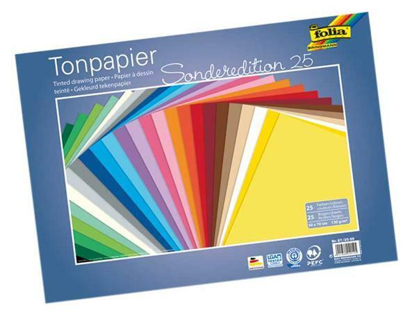 Tonpapier - 25 Bögen, 50 x 70 cm