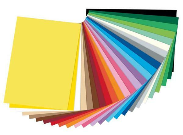 Gekleurd tekenpapier - 50 x 70 cm, 25 vel