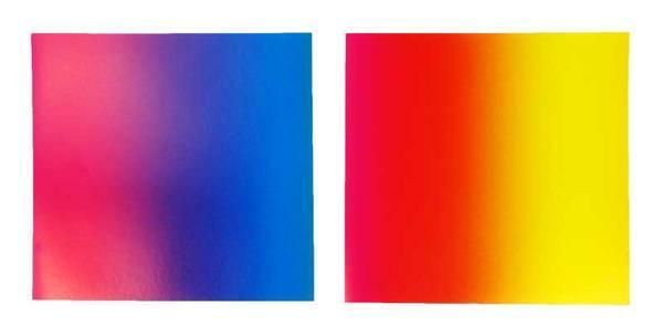 Faltblätter Regenbogen, 15 x 15 cm