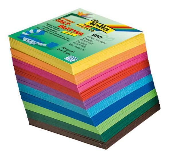 Faltblätter Mini - 500er Pkg., 5 x 5 cm