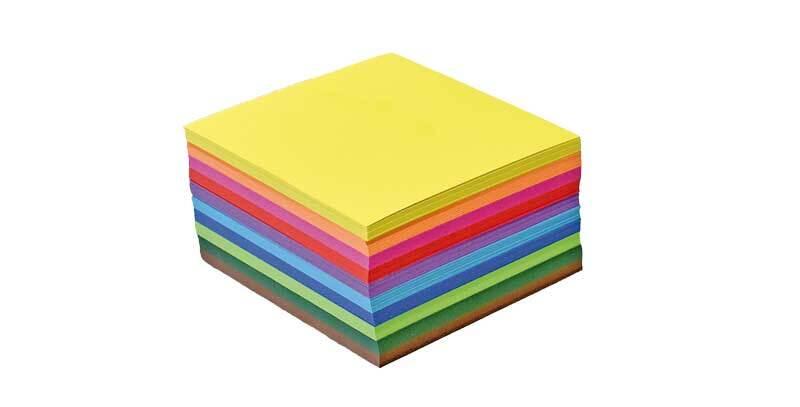 Papier à plier midi - 500 pces, 7,5 x 7,5 cm