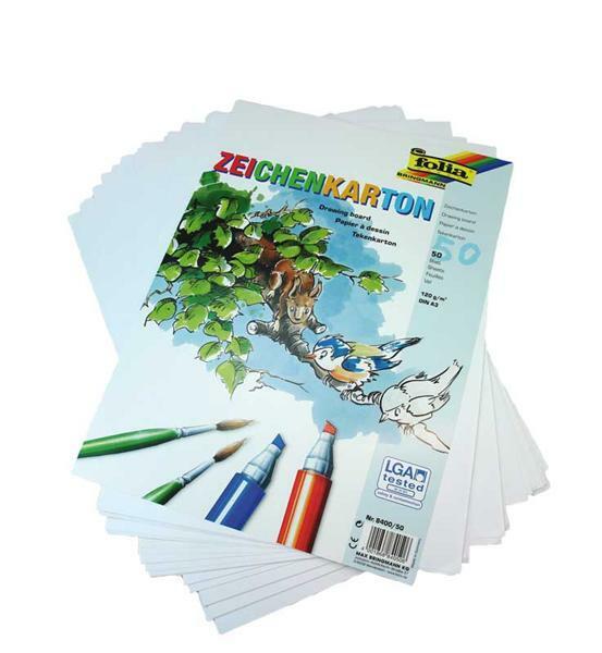 Carton à dessin - DIN A3, 50 feuilles