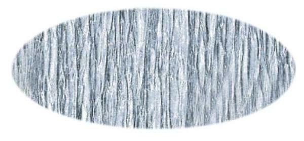 Knutselcrêpe - 50 cm, zilver