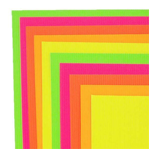 Wellpappe Mischpackung - neon
