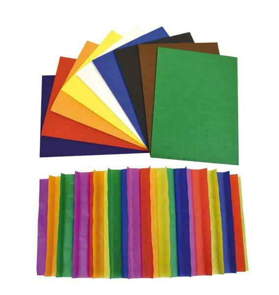 Papier alvéolé, multicolore