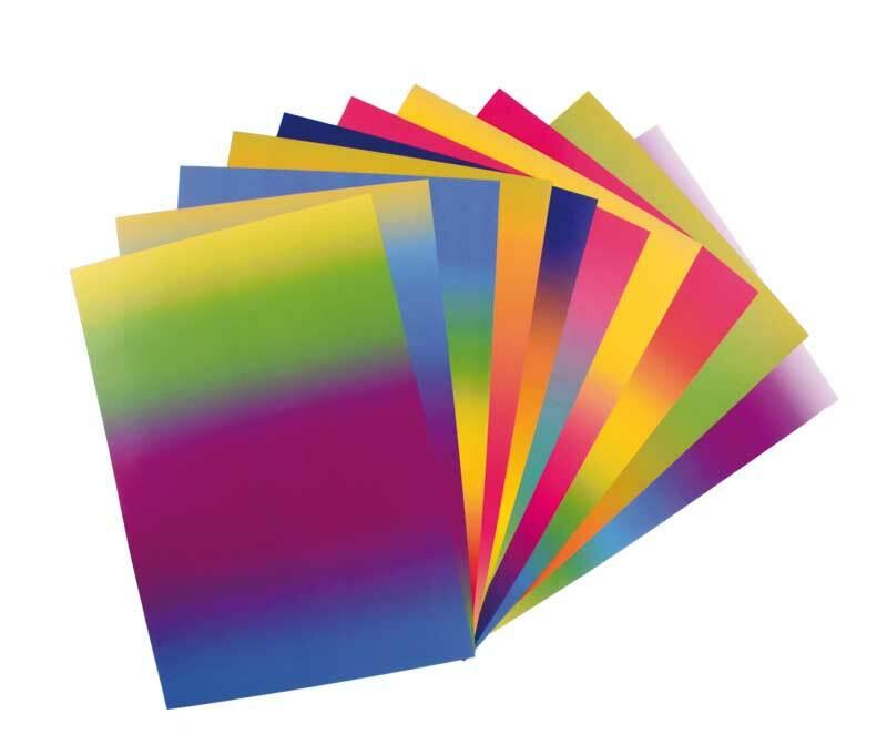 Regenbogen Buntpapier - 23 x 33 cm, 10 Blatt