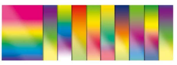 Regenboog gekleurd papier - 23 x 33 cm, 10 vel