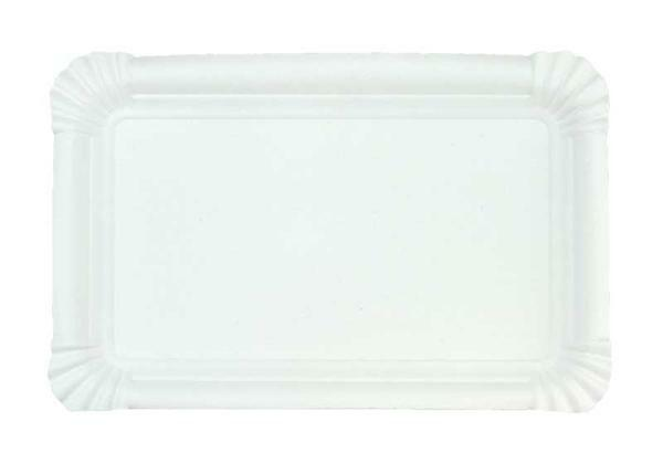 Assiette en carton - blanc, 13 x 20 cm