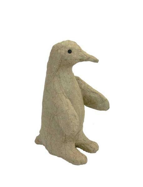 Animaux en papier mâché - pingouin, 13 x 8 cm