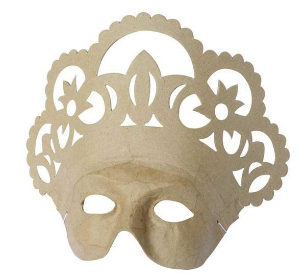 Papier-maché masker, koningin