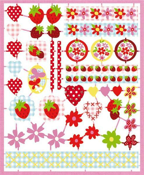Papier patroon bladen - strawberry