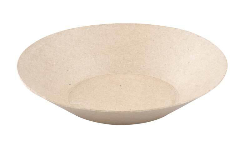 Pappmache Schale, rund