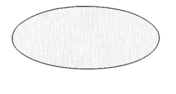 Papier crêpon - 50 cm, blanc
