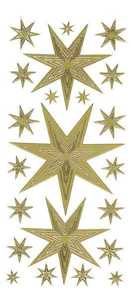 Sticker - Sterne, gold