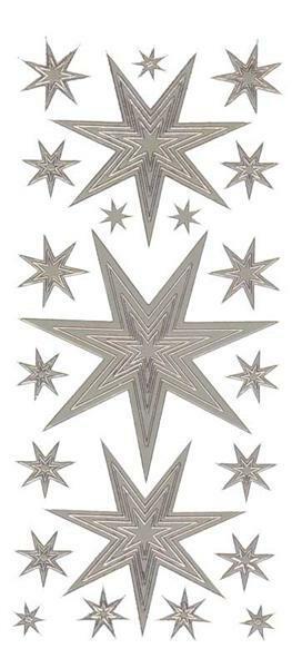 Stickers - sterren, zilver