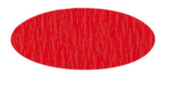 Papier crêpon - 50 cm, rouge