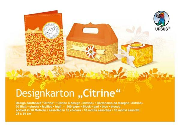Bloc carton design - citrine