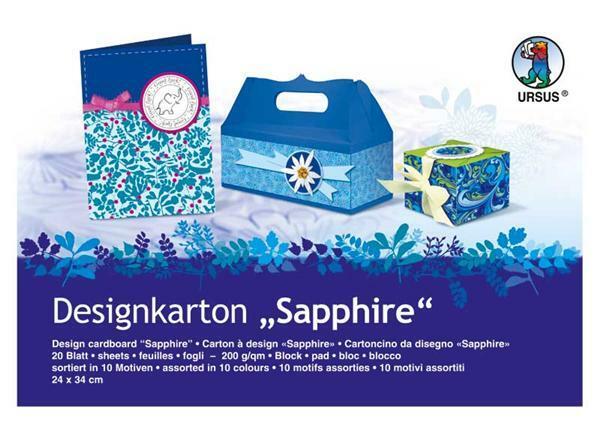 Designkarton-Block, Sapphire