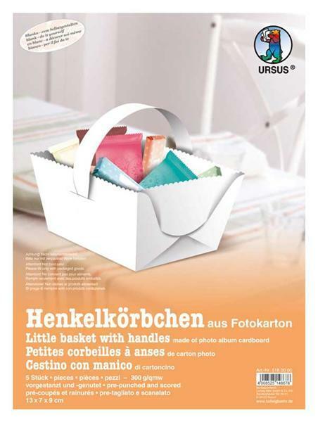 Henkelkörbchen - 5 Stk., weiß