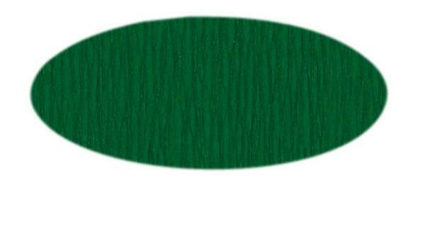 Papier crêpon - 50 cm, vert mousse
