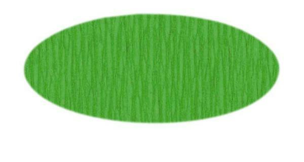 Knutselcrêpe - 50 cm, geelgroen