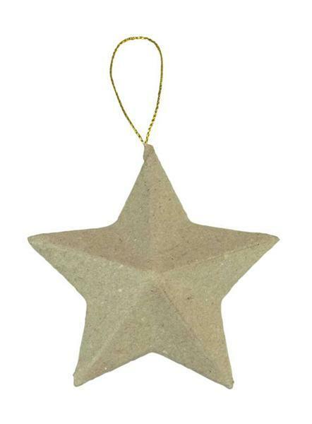 Pappmache Stern klein, 8 cm