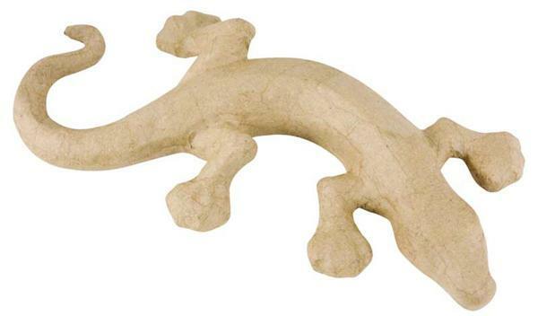 Papier-maché figuur - salamander groot, 30 x 22 cm