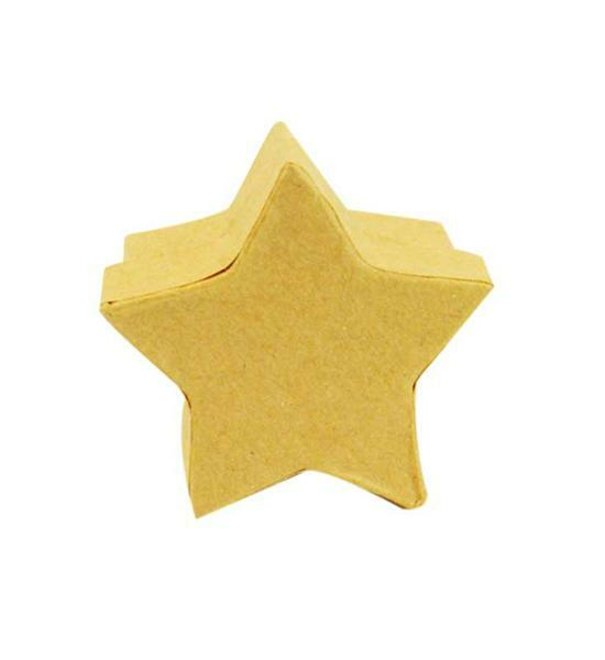 Boîtes en papier mâché - étoiles, 25 pces