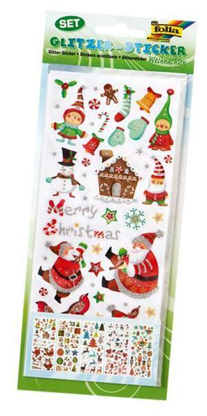 Stickers pailletés, Noël