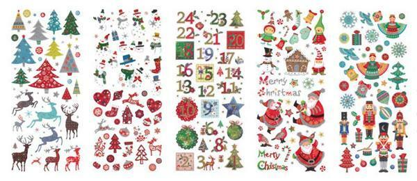 Sticker Glitzer, Weihnachten
