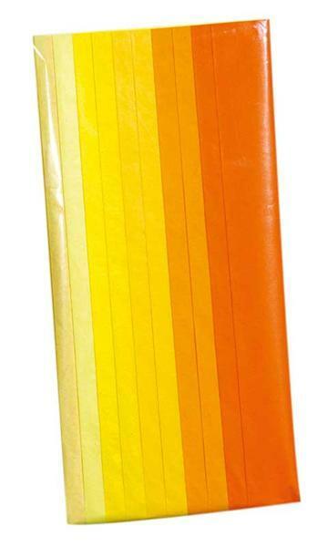 Bloemenzijde - 10 vel, mix geel