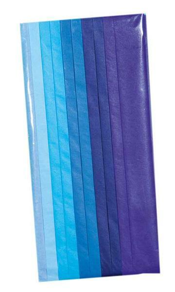 Papier de soie - 10 feuilles, tons bleu