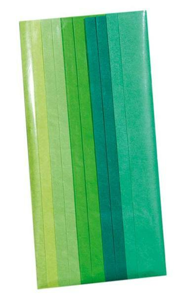 Papier de soie - 10 feuilles, tons vert