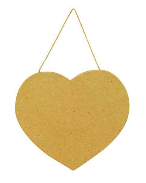 Papier-maché hart, ca. 18 cm