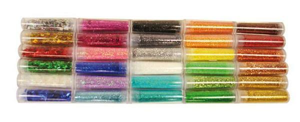 Glitterpulver Set - 30 x 3 g
