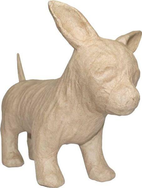 Pappmache Hund,  25 x 19 cm