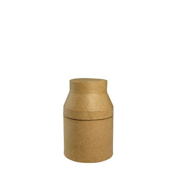 Papier-maché - melkbus, 17 cm