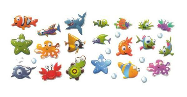 Sticker 3D - Fische, bunt