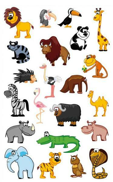 Stickers 3D - zoo, multicolore