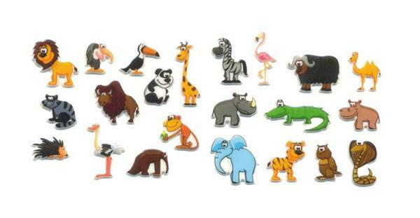 Sticker 3D - Zoo, bunt