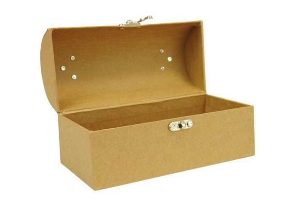 Papier-maché koffer, 20 x 10 x 10 cm
