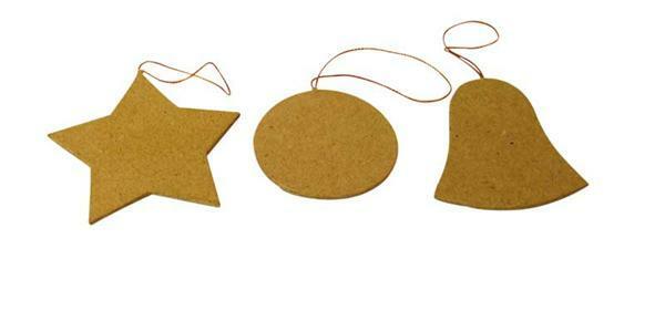 Pappmache Set - Weihnachten, ca. 7 cm