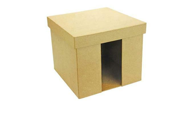 Pappmache Serviettenbox, 18 cm