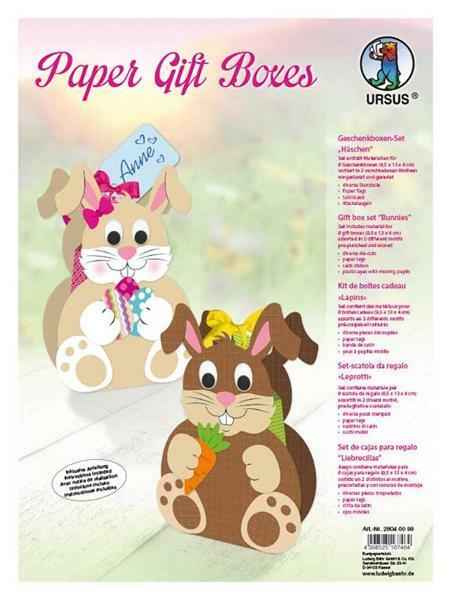 Set Boîtes cadeaux - Petits lapins