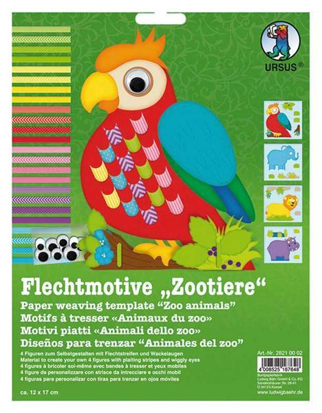 Flechtmotive Set - Zootiere