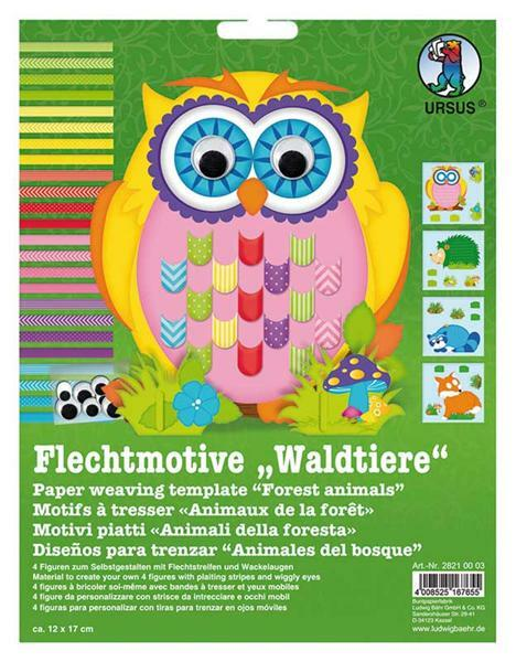 Flechtmotive Set - Waldtiere