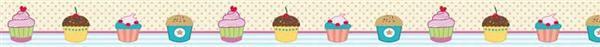 Ruban adhésif à motifs - 10 m, Cupcakes