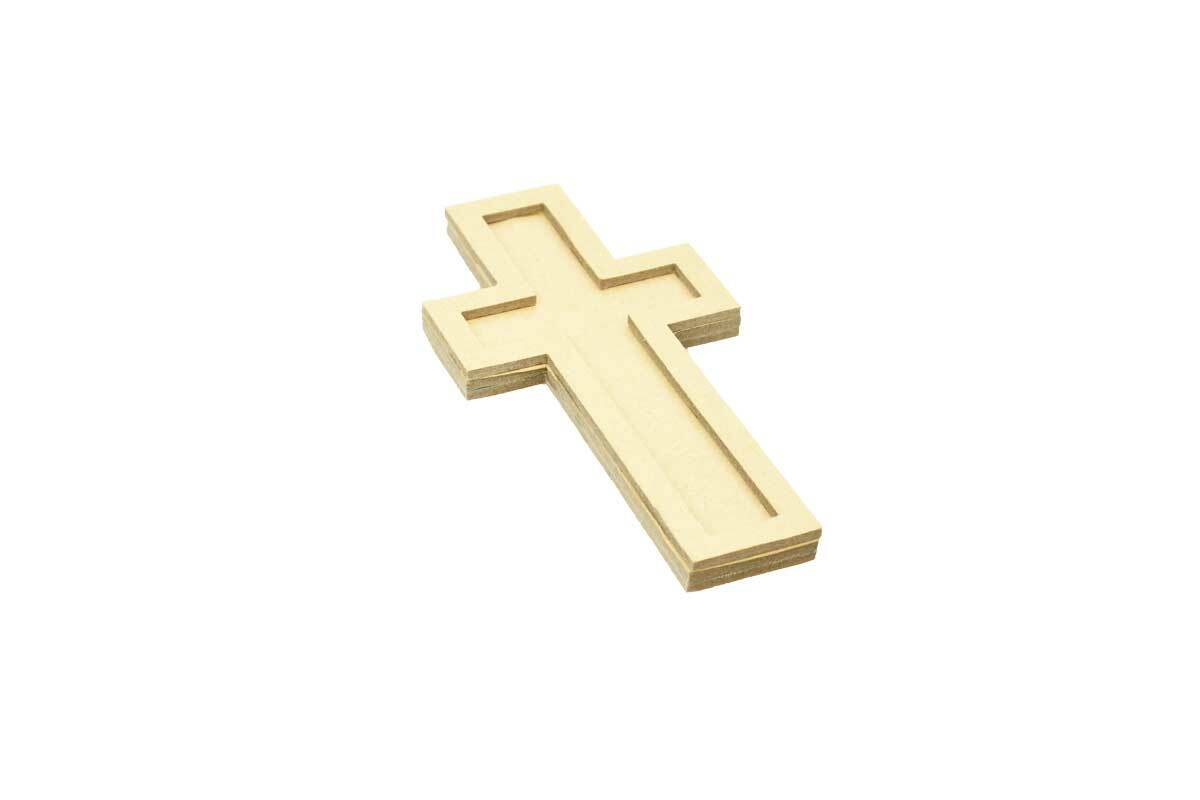 Pappmache Kreuz - groß, 16 x 8 cm