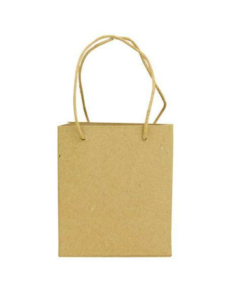 Pappmache Tasche, 12 x 10 x 7 cm