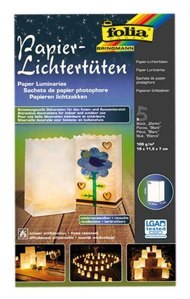 Lichtertüten - blanko, 19 x 11,5 x 7 cm